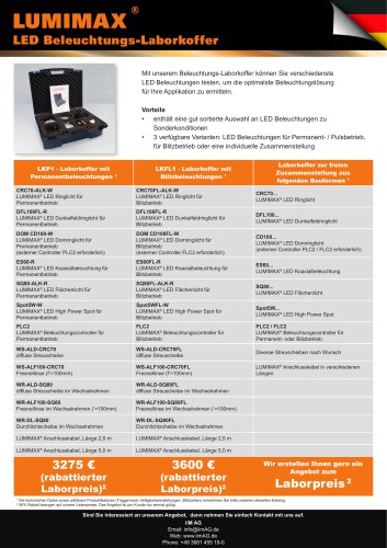 Flyer LED-Beleuchtungs-Laborkoffer