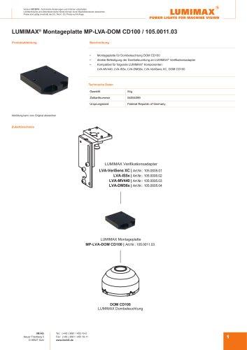 LUMIMAX Montageplatte für DOM-CD100