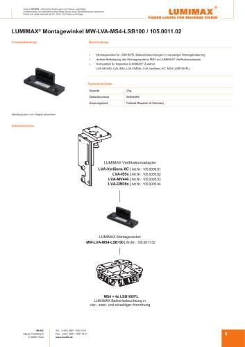 LUMIMAX Montagewinkel für MS4-LSB100