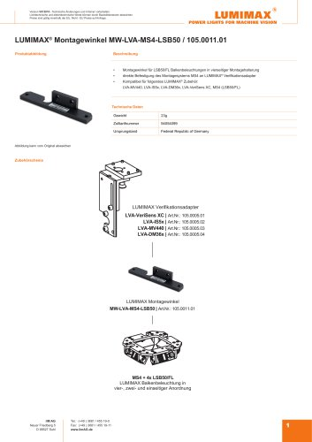 LUMIMAX Montagewinkel für MS4-LSB50