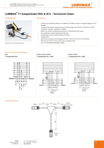 LUMIMAX T1-Adapterkabel IS5x und IS7x