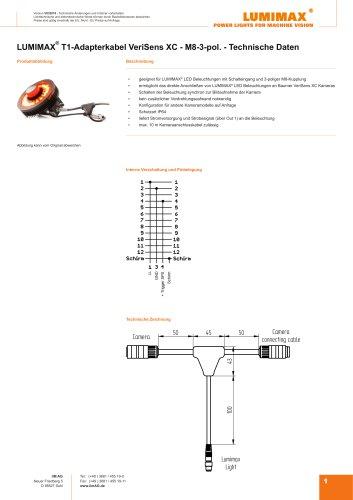 LUMIMAX T1-Adapterkabel VeriSens XC M8 3pol