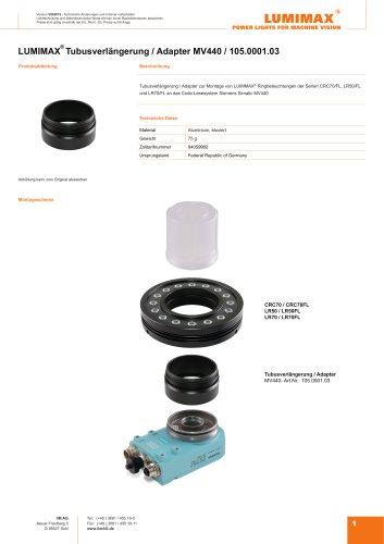 LUMIMAX Tubusverlängerung Adapter für Siemens MV440