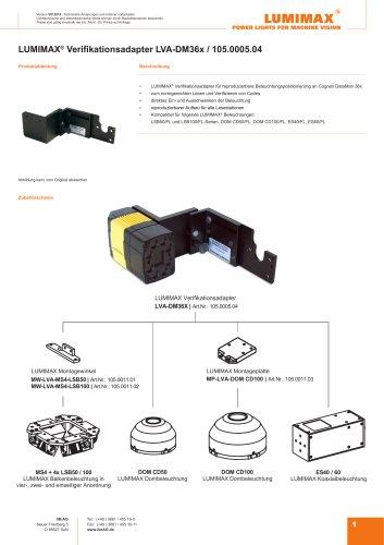 LUMIMAX Verifikationsadapter für DM36x