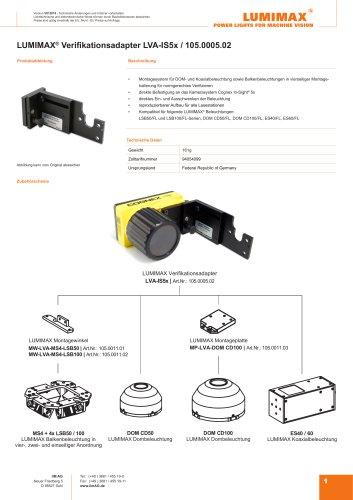LUMIMAX Verifikationsadapter für IS5x