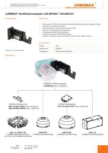 LUMIMAX Verifikationsadapter für MV440