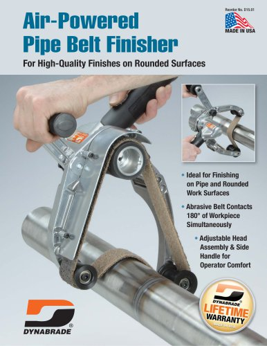 Air-Powered Pipe Belt Finisher