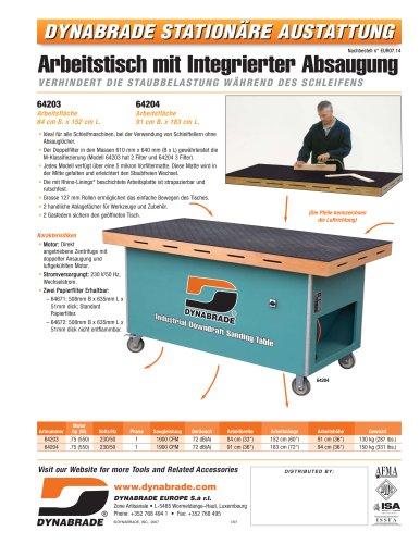 Arbeitstisch mit integrierter Absaugung