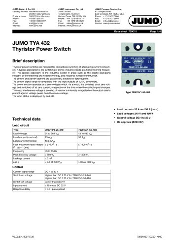 JUMO TYA 432 - Thyristor power switch