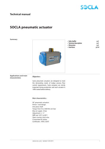 SOCLA pneumatic actuator