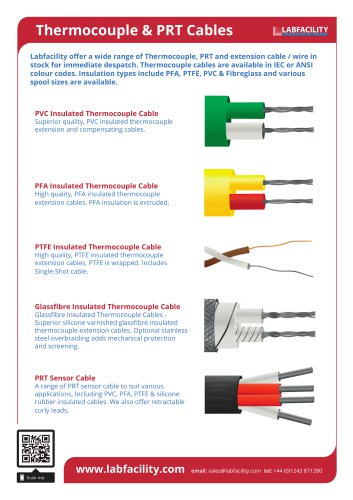 Thermocouple & PRT Cables