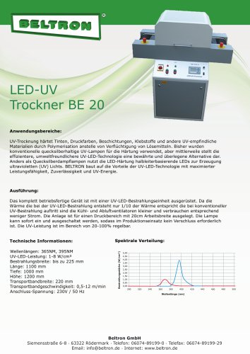 LED-UV Trockner BE 20