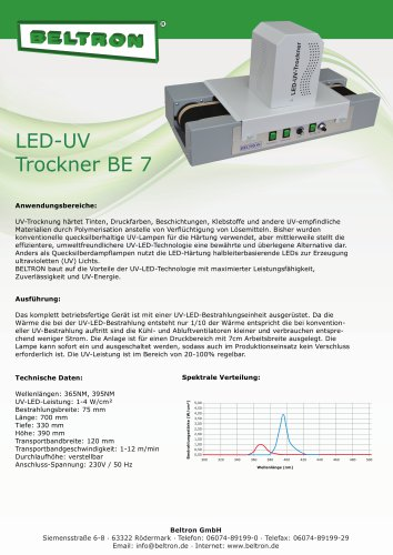 LED-UV-Trockner BE 7