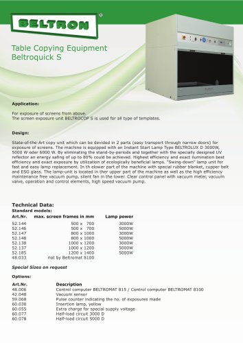 Table Copying Equipment - BELTROQUICK S