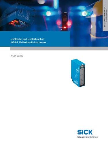 Lichttaster und Lichtschranken W24-2, Reflexions-Lichtschranke