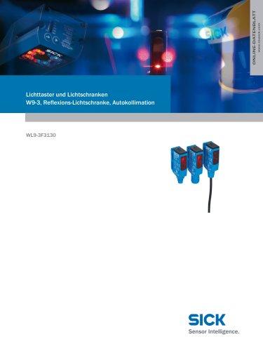 Lichttaster und Lichtschranken W9-3, Reflexions-Lichtschranke, Autokollimation