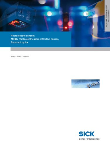 Photoelectric sensors MH15, Photoelectric retro-reflective sensor, Standard optics