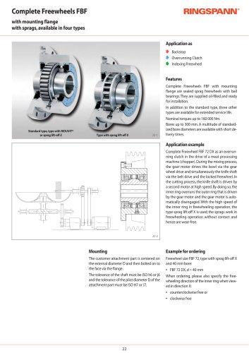 Complete Freewheels FBF RINGSPANN