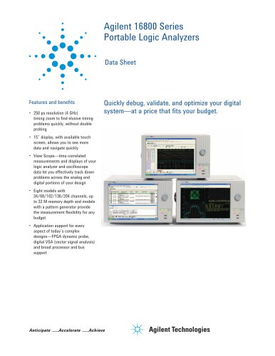 16800 Series Portable Logic Analyzers