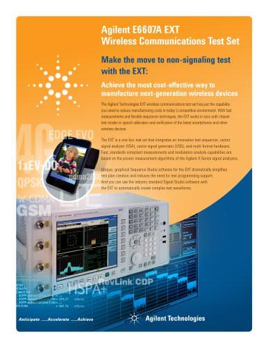E6607A EXT Wireless Communications Test Set - Flyer