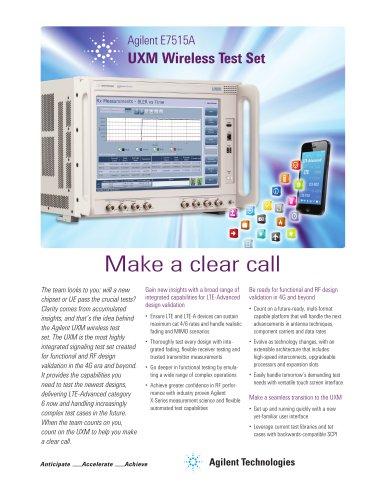 E7515A UXM Wireless Test Set