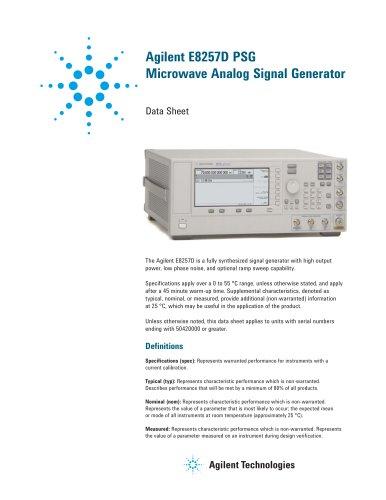 E8257D PSG Analog Signal Generator