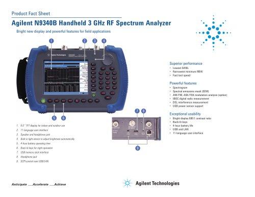 N9340B Handheld 3 GHz RF Spectrum Analyzer