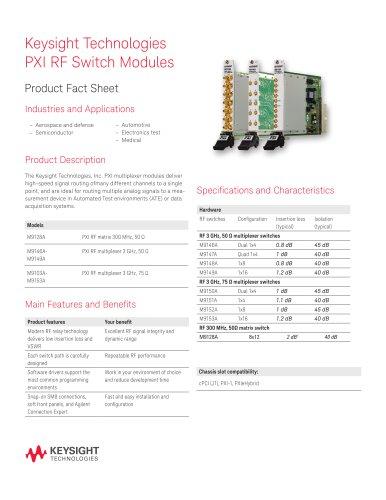 PXI RF Switch Modules