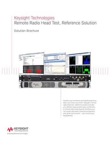Remote Radio Head Test, Reference Solution