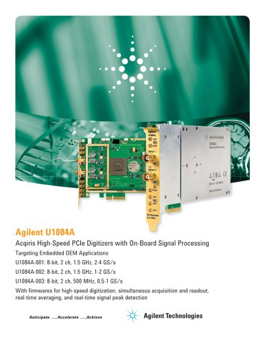 U1084A - High-Speed PCIe Digitizers with On-Board Signal Processing