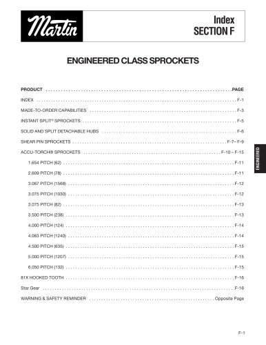 Engineered Class Sprockets