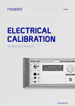 Electrical Calibration (with specifications)