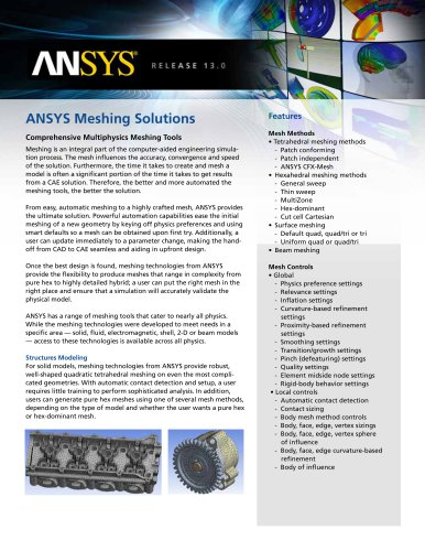 ANSYS Meshing Solutions