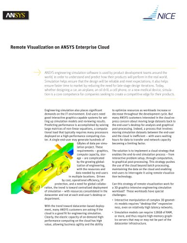 Remote Visualization on ANSYS Enterprise Cloud