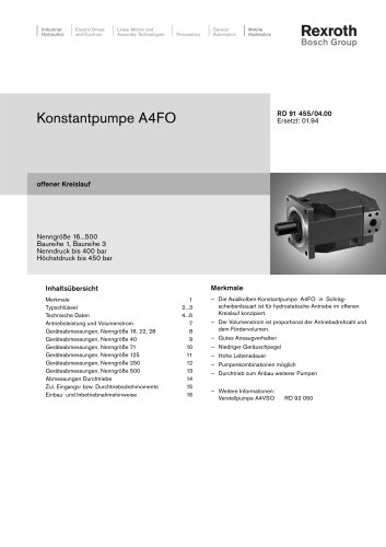 Konstantpumpe A4FO