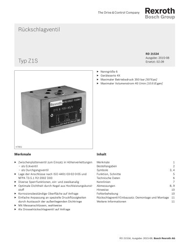 Rückschlagventil Typ Z1S