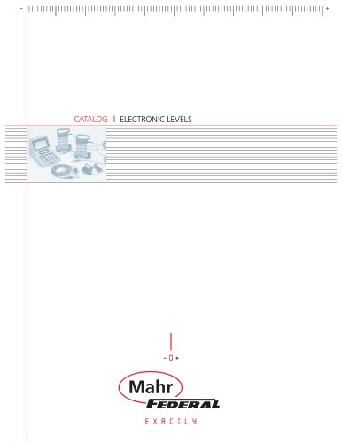 Mahr Federal Electronic Levels