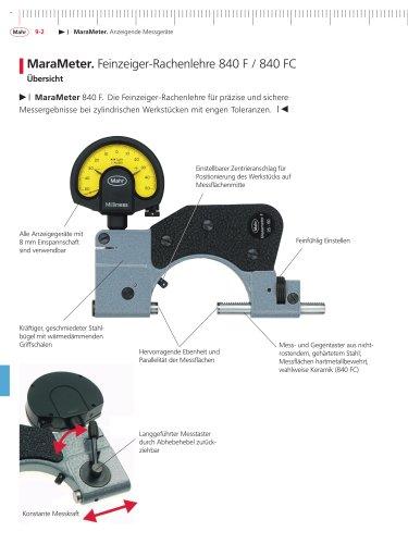 MaraMeter Feinzeiger-Rachenlehre 840 FC mit Keramikmessflächen