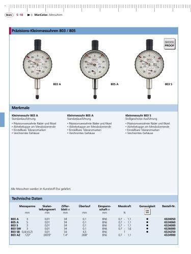MarCator Kleinmessuhr 803 A Standardausführung