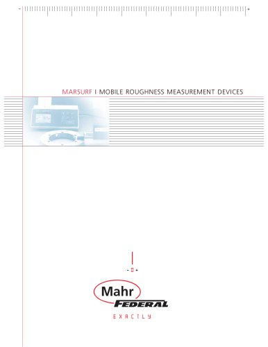 MarSurf Mobile Roughness Measurement Devices