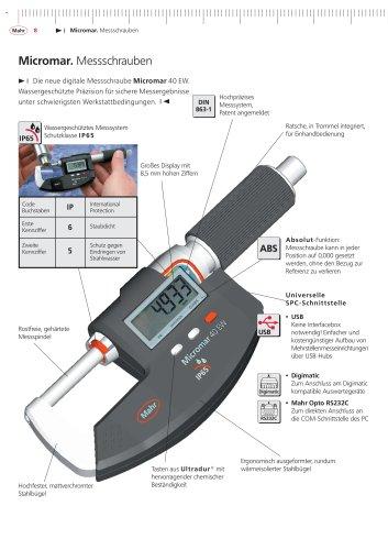 Micromar Wassergeschützte Digitale Bügel-Messschraube 40 EW