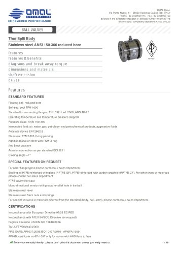 Stainless steel ANSI 150-300 reduced bore