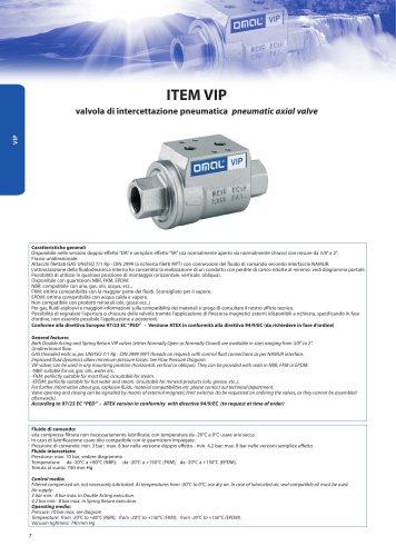 Vip - Pneumatic axial valve