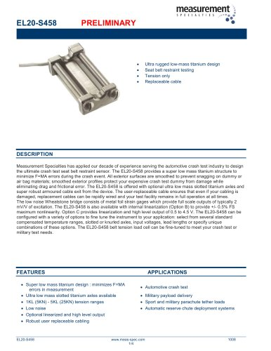 Force Sensor - ELWF Series