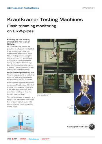 Flash Trimming Monitoring on ERW Pipe Brochure