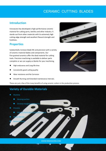 CERAMIC CUTTING BLADES|Innovacera